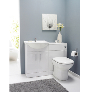 Nuie Cloakroom Packs Gloss White Contemporary Saturn Furniture Pack - FMD001 FMD001