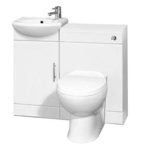 Nuie Cloakroom Packs Gloss White Contemporary Sienna Pack W/out Mono Basin - SIE002 SIE002
