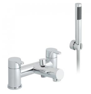 Vado Sense 2 Hole Bath Shower Mixer Deck Mounted With Shower Kit - Sen-130+K-C/P VADO1866