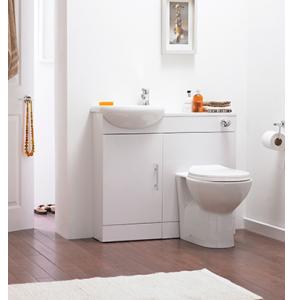 Nuie Cloakroom Packs Gloss White Contemporary Sienna Pack - SIE001 SIE001
