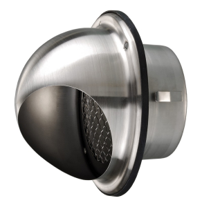 """Stainless Steel Wall Vent - Blauberg Circular Cowled Wall Bull Nose Grille Duct Outlet - 200mm 8"""" BLA10265"""