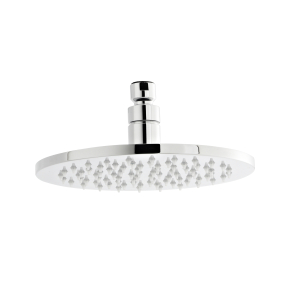 Nuie Fixed Shower Heads Chrome Contemporary Round LED Head - STY069 STY069