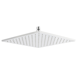Nuie Fixed Shower Heads Chrome Contemporary Square LED Head - STY070 STY070