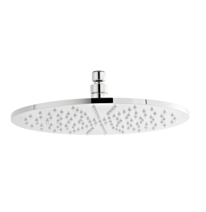 Nuie Fixed Shower Heads Chrome Contemporary Round LED Head - STY071 STY071