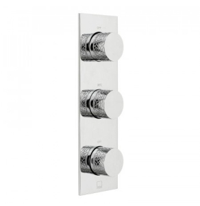 Vado Omika Two Outlet Three Handle Vertical Tablet Thermostatic Valve - Tab-128/2-Omi-C/P VADO1578