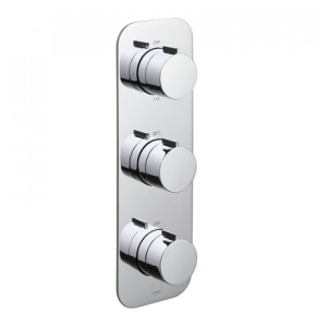 Vado Tablet Altitude Vertical Concealed 3 Outlet, 3 Handle Thermostatic Shower Valve With All-Flow Function - Tab-128/3-Alt-C/P VADO1591