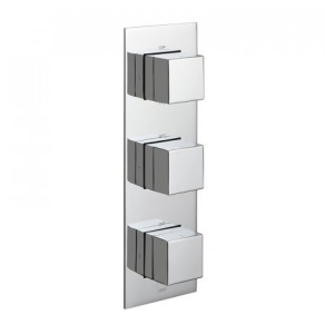 Vado Tablet Notion Vertical Concealed 3 Outlet, 3 Handle Thermostatic Shower Valve With All-Flow Function - Tab-128/3-Not-C/P VADO1609