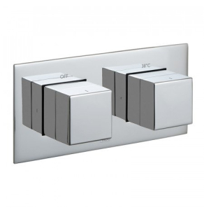 Vado Tablet Notion Horizontal Concealed 1 Outlet, 2 Handle Thermostatic Shower Valve - Tab-148-H-Not-C/P VADO1616