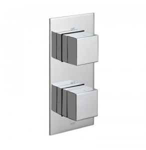 Vado Tablet Notion Vertical Concealed 1 Outlet, 2 Handle Thermostatic Shower Valve - Tab-148-Not-C/P VADO1615