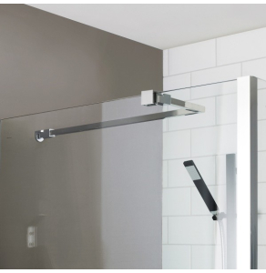 Nuie Polished Chrome Contemporary Wetroom Screen Support Arm - ARM22 ARM22
