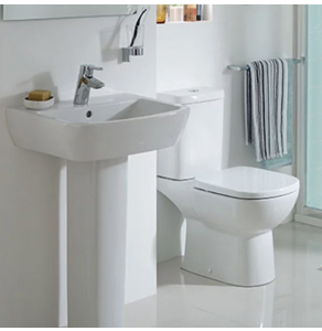 Ideal Standard Tempo Bathroom Cloakroom Suite Toilet 2 Tap Basin White IS10005