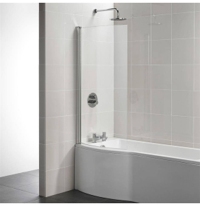 Ideal Standard Tempo Arc Shower Bath Screen 1400mm High x 820mm Wide 5mm Glass - E2571EO IS10698