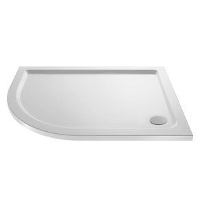 Nuie Shower Trays White Contemporary Offset Quad Tray Left Hand 1200x900mm - NTP114 NTP114