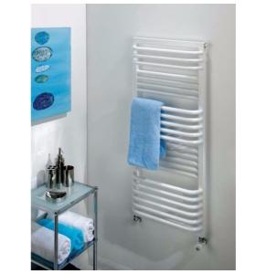 TRC Poll Heated Towel Rail 1055mm H x 450mm W White POLL1045W