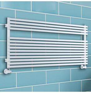 TRC BDO Sitar Single Heated Towel Rail 373mm H x 1520mm W White SITBDO3715W