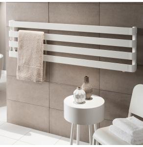 TRC BDO Step Heated Towel Rail 430mm H x 1800mm W -Black Chrome STEBDO4318BC