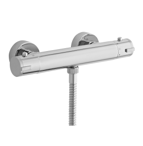Nuie Bar Showers Chrome Contemporary Minimalist Thermostatic Valve - VBS009 VBS009