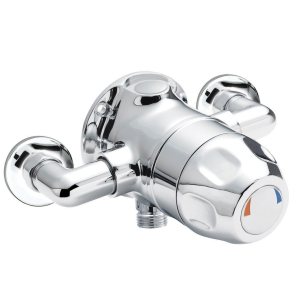 Nuie Commercial Showers Chrome Contemporary Exposed Sequential Shower Valve - VSQ1 VSQ1