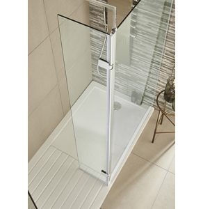 Nuie Wetroom Screens N/A Contemporary Hinged Screen 300x1850mm - WRS030H WRS030H
