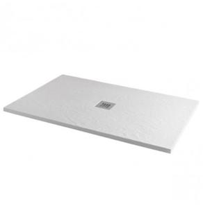 MX Minerals 1000 x 800mm rectangular Ice White Shower Tray - X1D X1D