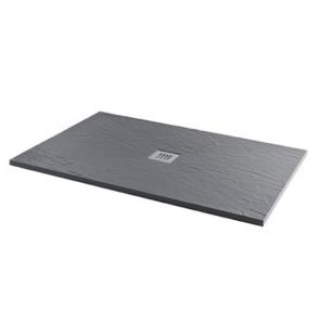 MX Minerals 1400 x 800mm rectangular Ash Grey Shower Tray - X1F X1F
