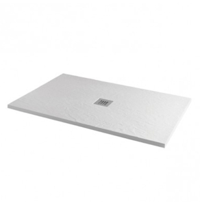 MX Minerals 1600 x 800mm rectangular Ice White Shower Tray - X1S X1S