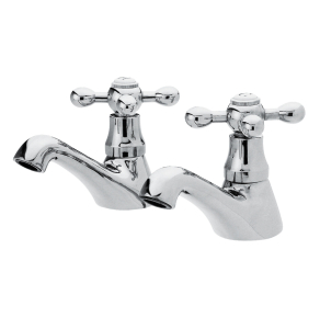 Nuie Viscount Chrome Traditional Basin Taps - X381 X381