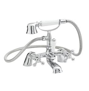 Nuie Viscount Chrome Traditional Bath Shower Mixer - X384 X384