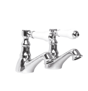 Nuie Bloomsbury Chrome Traditional Basin Taps - XM301 XM301