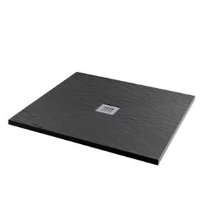 MX Minerals 1000 x 800mm rectangular Jet Black Shower Tray - X1E X1E