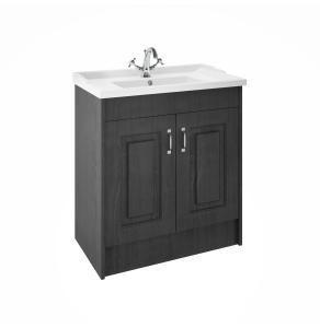 Nuie York Royal Grey Traditional Floor Standing 800mm Cabinet & Basin - YOR405 YOR405