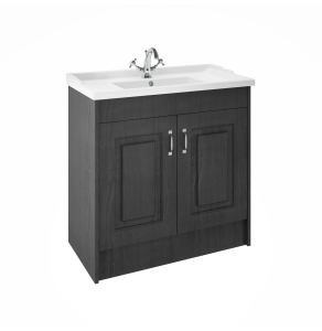 Nuie York Royal Grey Traditional Floor Standing 1000mm Cabinet & Basin - YOR407 YOR407