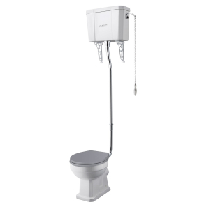 Bayswater Fitzroy High Level Toilet with Pull Chain Cistern (excluding Seat) BAY1027