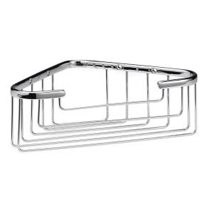 Bayswater Traditional Deep Wirework Corner Shower Basket Chrome BAY1153