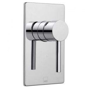 Vado Zoo Square Back Plate Concealed Manual Shower Valve Single Lever Wall Mounted - Zoo-145A/Sq-C/P VADO1443