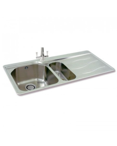 CARRON PHOENIX MAUI 150 1.5 BOWL STAINLESS STEEL KITCHEN SINK - RIGHT HAND DRAINER - 101.0155.124 CAR1235