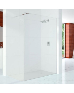 Merlyn 10 Series Shower Wall including Wall Profile & Stabilising Bar 1200mm - S10SW1200H S10SW1200H