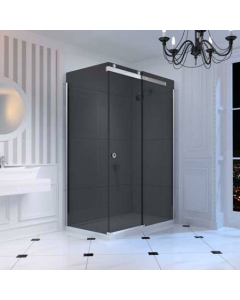 Merlyn 10 Series Sliding Door - Smoked Black Glass Right Hand 1200mm - M108241BR M108241BR