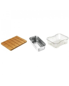 CARRON PHOENIX BAMBOO CHOPPING BOARD, WIRE BASKET & STRAINER BOWL FOR IBIS 150 & ADELPHI 150 - 112.0073.193 CAR1082