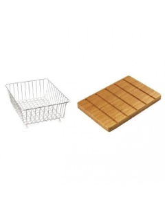 CARRON PHOENIX VELA 100 ACCESSORY PACK INCLUDES BAMBOO CHOPPING BOARD & WIRE BASKET - 112.0167.958 CAR1095