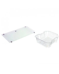 CARRON PHOENIX MAUI 90 ACCESSORY PACK INCLUDES GLASS CHOPPING BOARD & WIRE BASKET - 112.0171.042 CAR1067