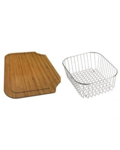 CARRON PHOENIX RAPID 90 ACCESSORY PACK INCLUDES BAMBOO CHOPPING BOARD & WIRE BASKET - 112.0187.220 CAR1075