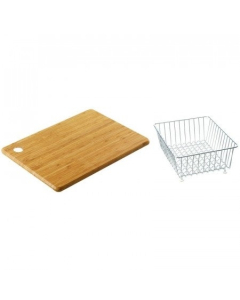CARRON PHOENIX DEBUT 100/105 ACCESSORY PACK INCLUDES BAMBOO CHOPPING BOARD & WIRE BASKET - 112.0255.465 CAR1092