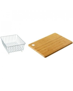 CARRON PHOENIX DEBUT 150 ACCESSORY PACK INCLUDES BAMBOO CHOPPING BOARD & WIRE BASKET - 112.0255.467 CAR1093