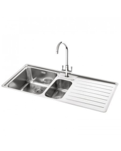 CARRON PHOENIX ATOLL 150 1.5 BOWL STAINLESS STEEL KITCHEN SINK - RIGHT HAND DRAINER - 127.0576.504 CAR1259