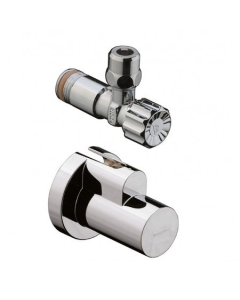 """HANSGROHE ANGLE VALVE WITH COVER 3/8"""" - 13954260 13954260"""