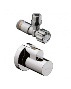 """HANSGROHE ANGLE VALVE WITH COVER 3/8"""" - 13954800 13954800"""