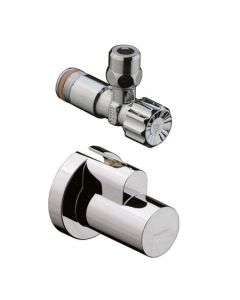 """HANSGROHE ANGLE VALVE WITH COVER 3/8"""" - 13954820 13954820"""