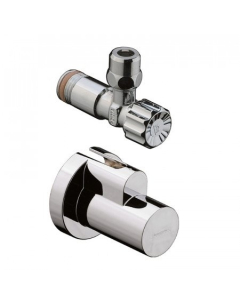 """HANSGROHE ANGLE VALVE WITH COVER 3/8"""" - 13954950 13954950"""