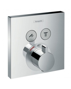 HANSGROHE SHOWERSELECT THERMOSTATIC MIXER FOR CONCEALED INSTALLATION FOR 2 OUTLETS - 15763000 15763000